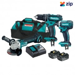 Makita DLX3068 - 18V 3.0Ah Cordless 3 Piece Combo Kit Combo Kits 18v