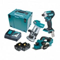 Makita DLX3134TJ - 18V 5.0Ah Cordless Brushless 3 PieceCombo Kit
