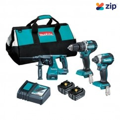 Makita DLX3137TX1 - 18V 5.0Ah Cordless Brushless 3 Piece Combo Kit Combo Kits 18v