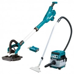 Makita DSL800-DVC864 - 18V 225mm Cordless Brushless AWS Drywall Sander & Vacuum Combo Kit