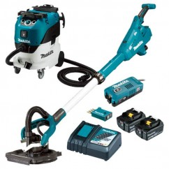Makita DSL800RT-VC42M - 18V 225mm Cordless Brushless AWS Drywall Sander & Vacuum Combo Kit
