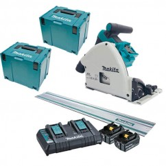 Makita DSP600PT2JT – 36V(18V x 2) 5.0Ah 165mm Cordless Brushless Plunge Cut Saw Kit Cordless Tool Kits