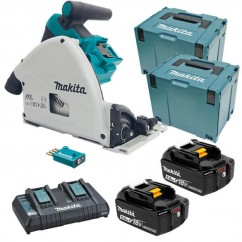 Makita DSP601PT2JU - 36V (18V x 2) 5.0Ah 165mm Cordless Brushless Plunge Cut Saw Kit Circular Saws