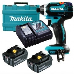"""Makita DTD152RTE - 18V 165NM Cordless Impact Driver Kit Cordless Impact Drivers 1/4"""" Hex"""