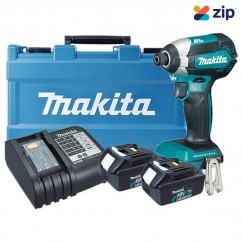 Makita DTD153SFE - 18V 3.0Ah Cordless Brushless Impact Driver Kit Cordless Impact Wrenches Square Drive