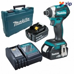Makita DTD154RTE - 18V 4 Mode Cordless Brushless Impact Driver