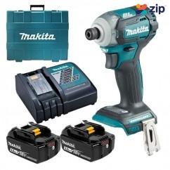 "Makita DTD170RTE - 18V Cordless Brushless Impact Driver kit Cordless Impact Drivers 1/4"" Hex"