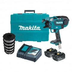 Makita DTR180RFX1 - 18V 3.0Ah Brushless Cordless Rebar Tying Tool Kit Rod/Rebar Cutters & Tools