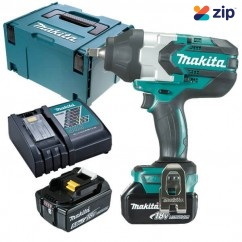 "Makita DTW1002RTJ - 18V 1/2"" Cordless Brushless Impact Wrench Kit Cordless Impact Wrenches Square Drive"