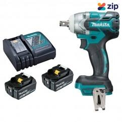 "Makita DTW285RTE - 18V 5.0Ah Cordless Brushless 1/2"" Impact Wrench Kit Cordless Impact Wrenches Square Drive"