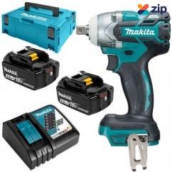 "Makita DTW285XJX - 18V 5.0Ah Cordless Brushless 1/2"" Impact Wrench Kit"