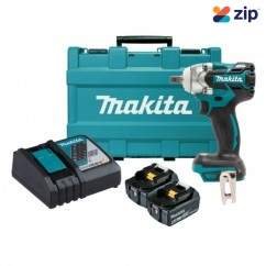 "Makita DTW285XRTE - 18V Cordless Brushless 1/2"" Detent Pin Impact Wrench Kit Cordless Impact Wrenches Square Drive"