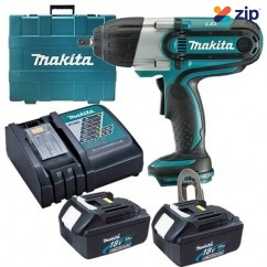 "Makita DTW450RFE - 18V Cordless Impact Wrench Kit Cordless Impact Drivers 1/4"" Hex"