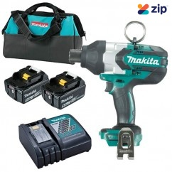 "Makita DTW800RTE - 18V 5.0Ah Cordless Brushless 7/16"" Hex Impact Wrench Kit"