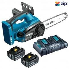 Makita DUC252PT2 - 36V (18V x 2) 5.0Ah 250mm Cordless Chainsaw Kit Free Shipping