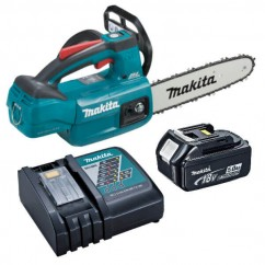 Makita DUC254RT - 18V 5.0Ah Cordless Brushless 250mm Chainsaw Kit Cordless Chainsaws
