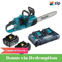 Makita DUC400PT2 - 36V (18Vx2) 5.0Ah 400mm Cordless Brushless Chainsaw Kit
