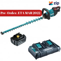 Makita DUH752PT - 18V 750mm Cordless Brushless Hedge Trimmer Kit