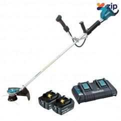 Makita DUR365UPT2 - 36V (18Vx2) 5.0Ah Cordless Brushless Line Trimmer Kit Line Trimmers