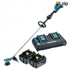 Makita DUR366LPT2 - 36V(18V x 2) 350mm Brushless Cordless 5.0Ah Line Trimmer Kit Makita Redemption