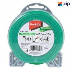 Makita E-01769 - 2mm x 15m Green Four Leaf Silent Nylon Line Line Trimmers