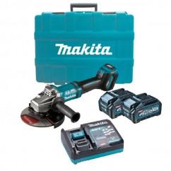 "Makita GA037GM201 - 40V Max 4.0Ah 180mm (7"") XGT AWS Cordless Brushless Angle Grinder Kit Angle Grinders"