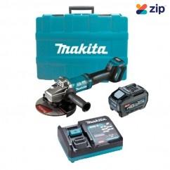 "Makita GA037GT101 - 40V Max 5.0Ah 180mm (7"") XGT AWS Cordless Brushless Angle Grinder Kit Angle Grinders"