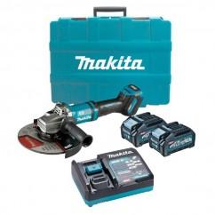 "Makita GA038GM201 - 40V Max 4.0Ah 230mm (9"") XGT AWS Cordless Brushless Angle Grinder Kit Angle Grinders"
