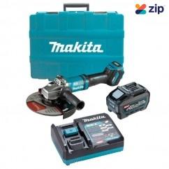 "Makita GA038GT101 - 40V Max 5.0Ah 230mm (9"") XGT AWS Cordless Brushless Angle Grinder Kit Angle Grinders"