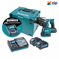 Makita HR001GM205 - 40V Max 4.0Ah Cordless Brushless AWS* 28mm Rotary Hammer Kit Rotary Hammer Drills