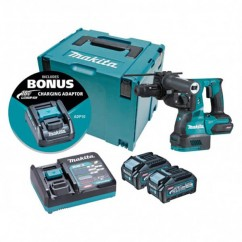 Makita HR002GM205 - 40V Max 4.0Ah Cordless Brushless AWS* 28mm Rotary Hammer Kit Rotary Hammer Drills