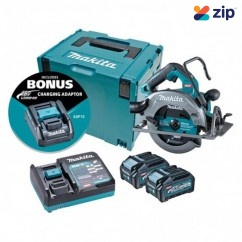 "Makita HS003GM203 - 40V Max 4.0Ah Cordless Brushless AWS* 185mm (7-1/4"") Circular Saw Kit Circular Saws"