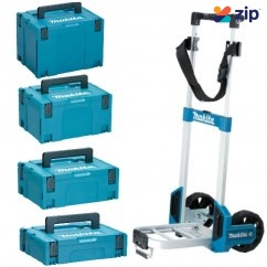 Makita MAKPACCOMBO1 -4 Piece Stackable Case Set And Trolley