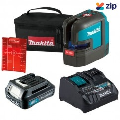 Makita SK105DKIT1 - 12V Max 2 Beam 3 Modes Cordless Red Cross Line Laser Kit Cross Line & Dot Lasers