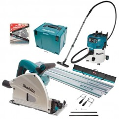 Makita SP6000J-VC30M - 165mm Plunge Cut Circular Saw and Vacuum Combo Kit
