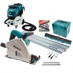 Makita SP6000J-VC42M - 165mm Plunge Cut Circular Saw and Vacuum Combo Kit