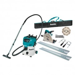Makita SP6000JT2X-VC30MX1 - 165mm Plunge Cut Circular Saw & M-Class Dust Extraction Combo Kit Track Saws