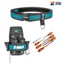 Makita TRADIEBELT1 - Quick Release Tool Belt & Electrician Pouch Trade Pack