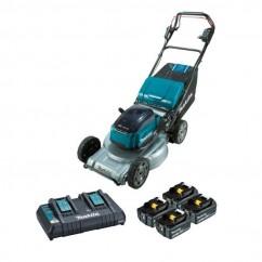 "Makita DLM533PG4X - 36V 534mm 21"" Brushless Self-Propelled Lawn Mower 4 X 6.0Ah Kit Mowers"