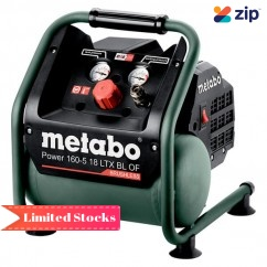Metabo POWER 160-5 18 LTX BL OF - 18V Cordless Brushless Compressor Skin 601521850 Compressors