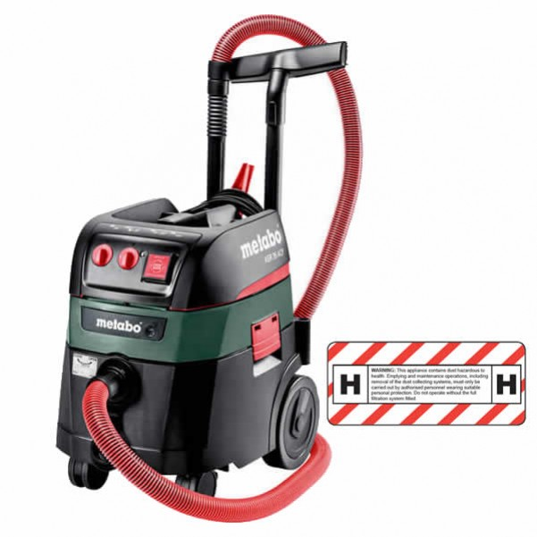 Metabo ASR 35 H ACP - 240V 1400W 35L H-Class All Purpose Vacuum Cleaner 602059000