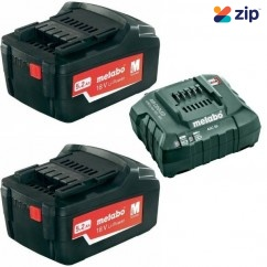 Metabo AU32100520 - 18V 5.2Ah Li-ion Air Cooled Battery Combo Kit Chargers
