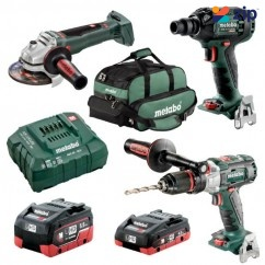 Metabo BL3SB2HD455E - 18V 4.0/5.5Ah Cordless Brushless 3 Piece Combo Kit AU68301455 Combo Kits 18v