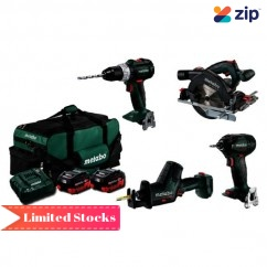 Metabo MX4LB2HD5.5CZ - 18V 5.5Ah Brushless Cordless 4 Piece Combo Kit AU68401050 18V Brushless Combo Kits