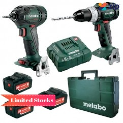 Metabo BL2PC3LP5.2B - 18V 5.2Ah Cordless Brushless 2 Piece Combo Kit AU68902052