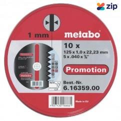 Metabo COW125INOX - 125 X 1.0 X 22.2mm  INOX Cutting Discs 616359000 Metabo Accessories