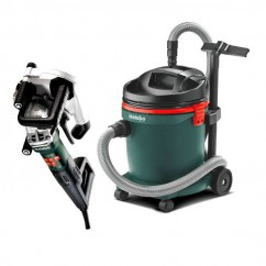 "Metabo MFE40 Combo Kit - 240V 1900W 125mm(5"") Wall Chaser and ASA 32L Vacuum Set AU60010050"