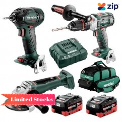 Metabo BL3SB2HD5.5Y - 18V 5.5Ah Brushless Cordless 3 Piece Combo Kit AU68306155