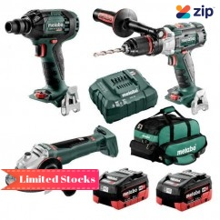 Metabo BL3SB2HD5.5Z - 18V 5.5Ah Brushless Cordless 3 Piece Combo Kit AU68306255