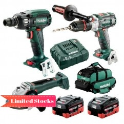 Metabo BL3SB2HD5.5AB - 18V 5.5Ah Brushless Cordless 3 Piece Combo Kit AU68306555